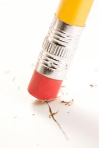 Close-up of an eraser
