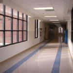 Photo of a school hallway by Henry de Saussure Copeland