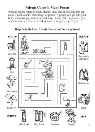 Activity Sheet Poison Maze Northern New England Poison