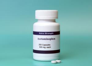Bottle of acetaminophen